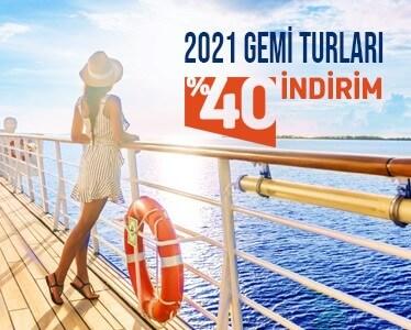 2021 Gemi Turlarında 40% İndirim
